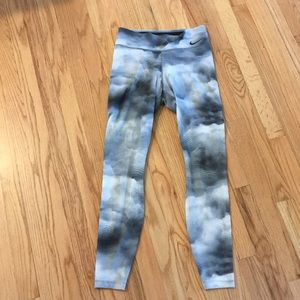 Nike Dri-Fit Grey and White Cloud Tights